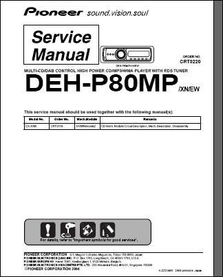 DEH-P80 MP : Servicemanual